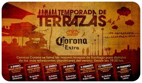 Cerveza Corona y las terrazas de Santiago 1