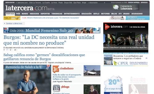 Nuevo sitio LaTercera.com 1