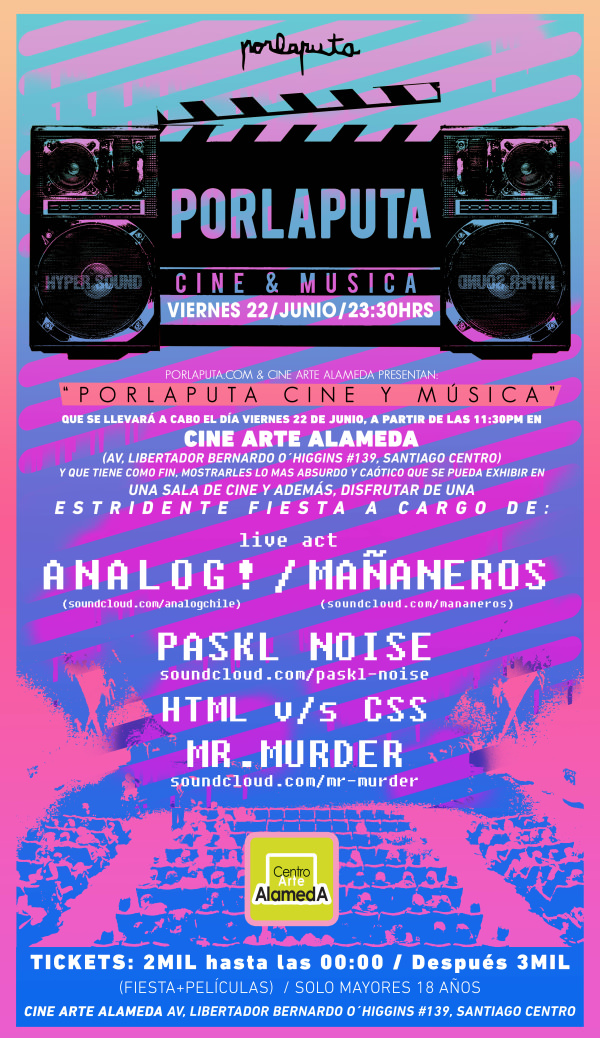 Fiesta Porlaputa + Cine Xtreme 1