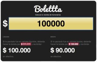 Bolettta, un sitio para calcular tu boleta de honorarios 1