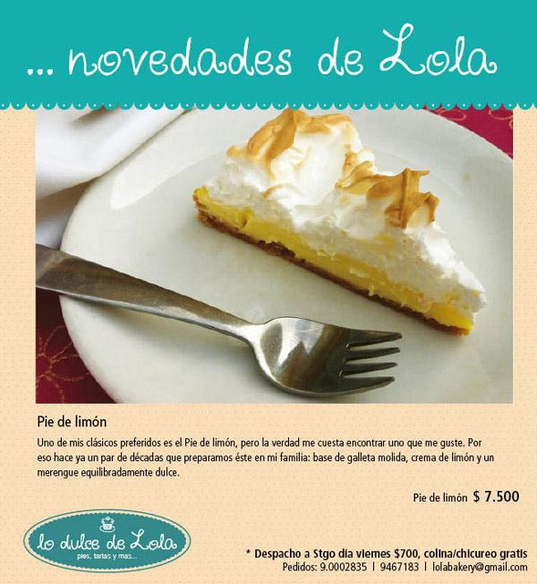 Lo dulce de Lola: Pie de limón 1
