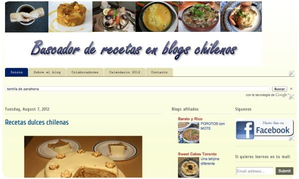 Buscador de recetas en blogs chilenos 1
