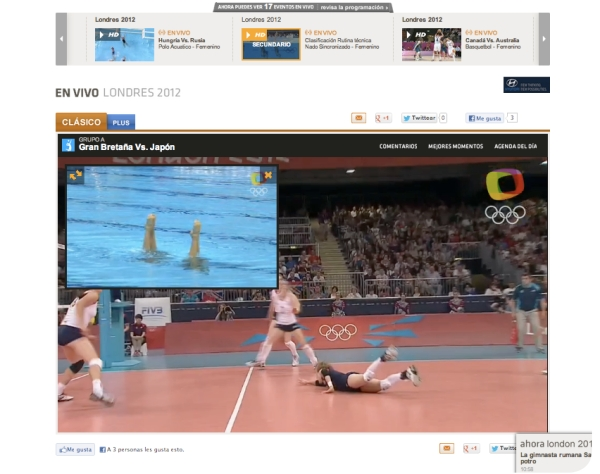 Seguir los Juegos Olímpicos en internet 1