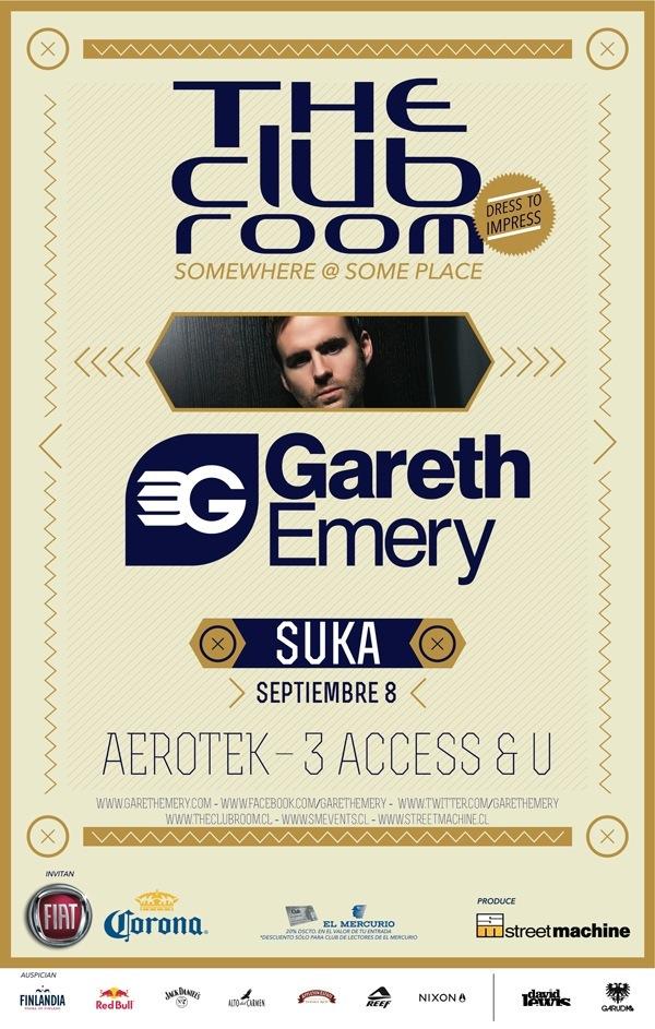 The Club Room presenta a Gareth Emery en Chile 1
