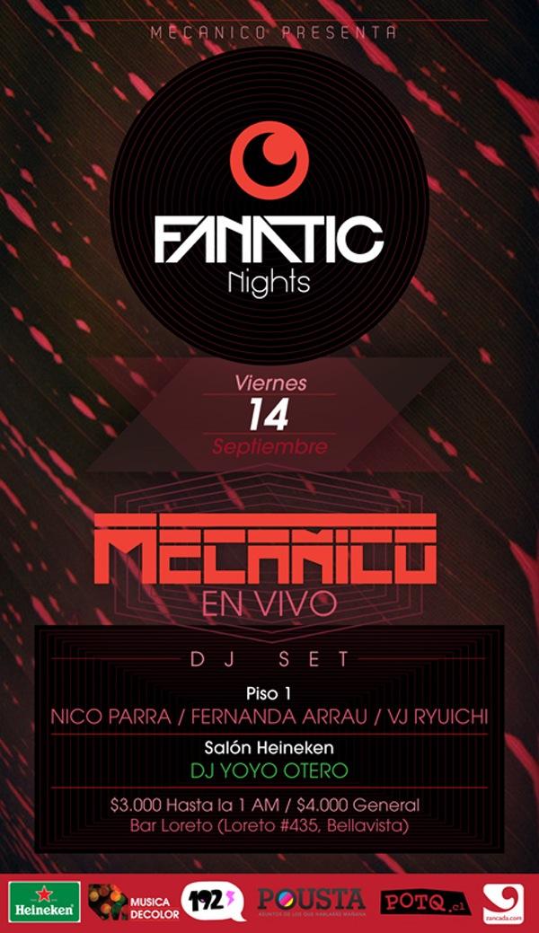 Mecanico presenta: FANATIC NIGHTS, LA NOCHE DE MECANICO 3