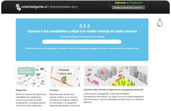 Vota Inteligente: información sobre las Elecciones Municipales 2012 1
