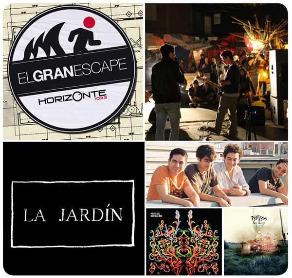 Jueves: Protistas en vivo en Ciclo El Gran Escape en La Jardín 1