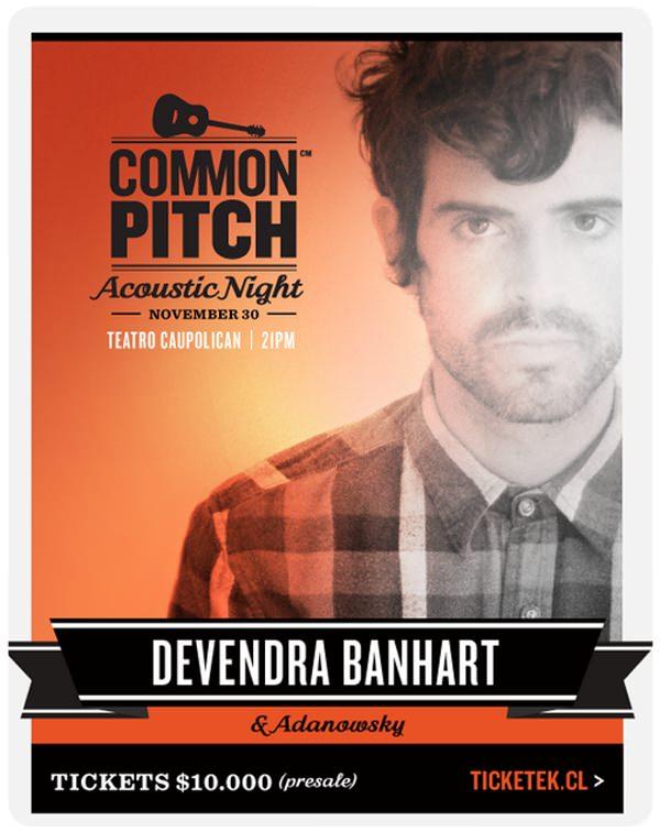 Devendra Bahnhart en el Teatro Caupolicán el 30 de noviembre 1
