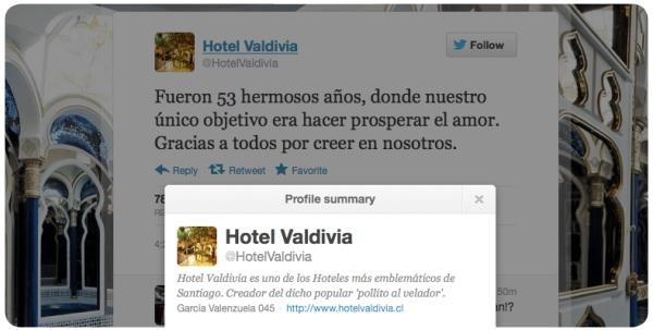 En abril cerrará el mítico Hotel Valdivia 1