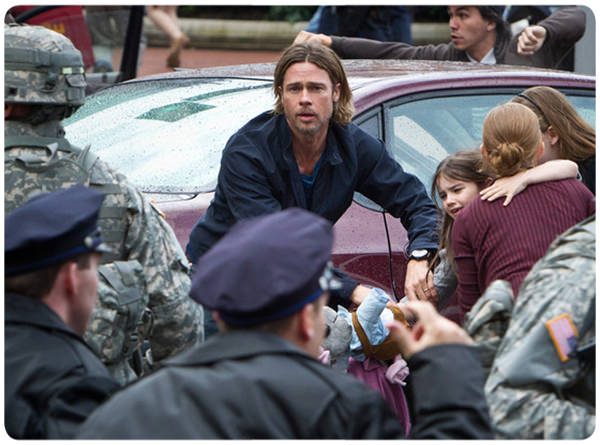 World War Z: Brad Pitt y zombies 1