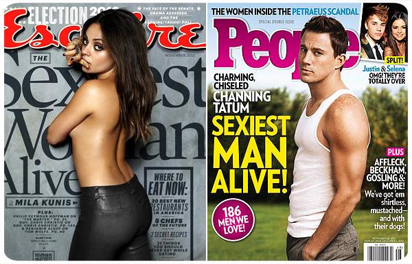 Mila Kunis y Channing Tatum, los más sexys del año 1