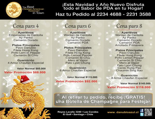 Cenas de Navidad y Año Nuevo de Palacio Danubio Azul a tu casa @DanubioPDA 2