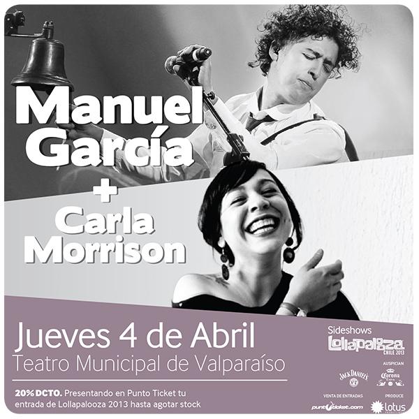 Sideshow de Lollapalooza en Valparaíso: Manuel García y Carla Morrison 1