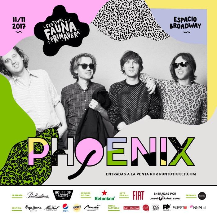 Phoenix en Chile: primeros confirmados de Fauna Primavera 2017 1