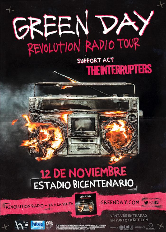 Todo listo para Green Day en Chile 2