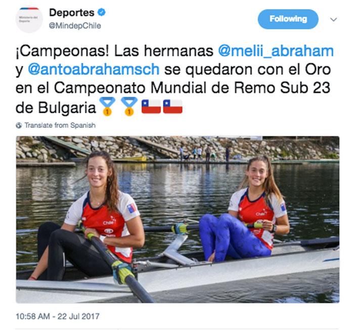 Antonia y Melita Abraham, campeonas mundiales de remo sub 23 2
