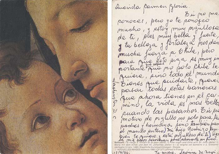 Revisar las cartas y postales del Museo de la Memoria 1