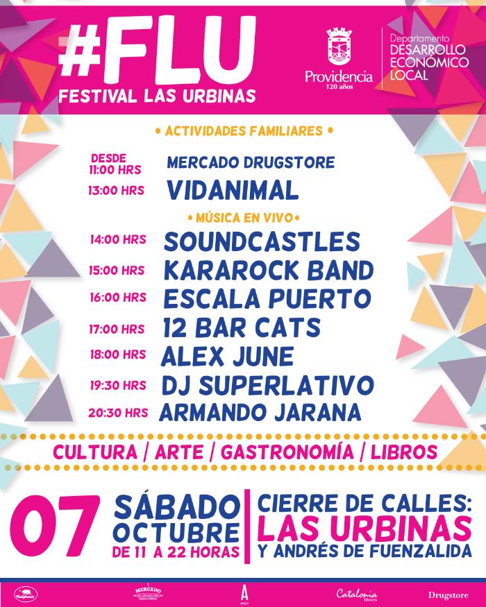 Nueva edición de Festival Las Urbinas #FLU en Providencia 2