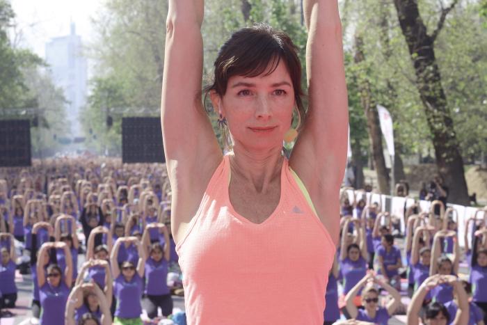 Clase masiva de Yoga