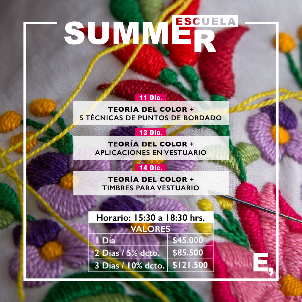 Escuela Summer, 3 días de workshop de diseño en verano 2