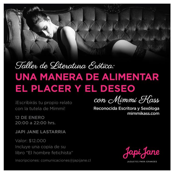 Taller de literatura erótica en Japi Jane (+ concurso!) 1