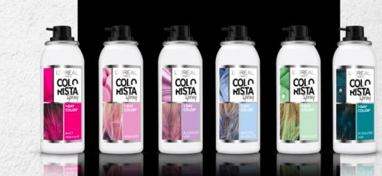 Colorista en spray, cabello de colores que sale con un lavado 1
