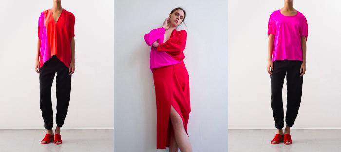 Rojo y rosado, una combinación atractiva e inesperada 1