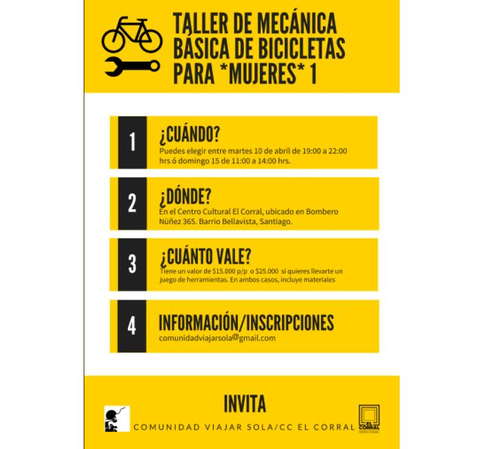 Taller de mecánica básica de bicicletas para mujeres 1