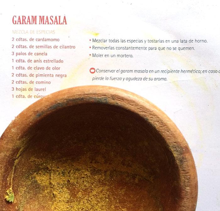 Receta y usos del súper condimento garam masala 1