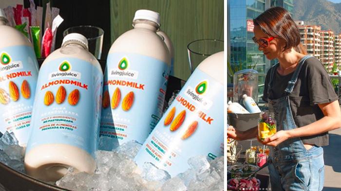 Livingjuice lanzó Almondmilk, una leche de almendras embotellada y presurizado en frío 1