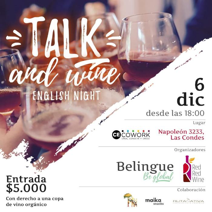 Talk and wine: un vino para hablar inglés 1