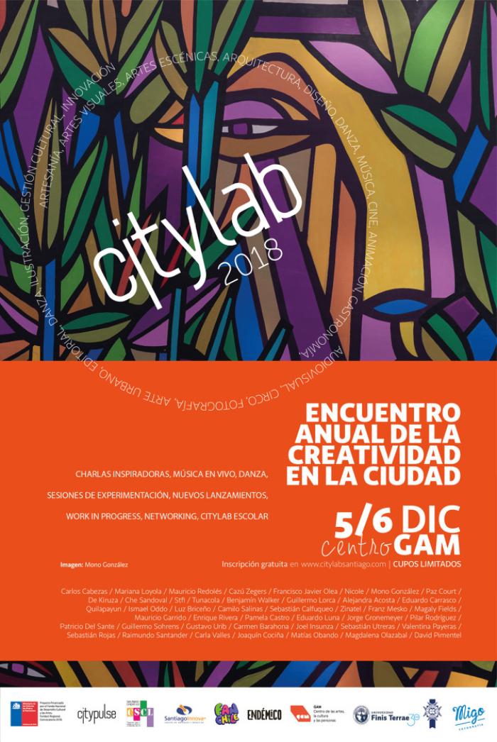 Nicole, Mauricio Redolés y Carlos Cabezas estarán en Citylab 2018 1