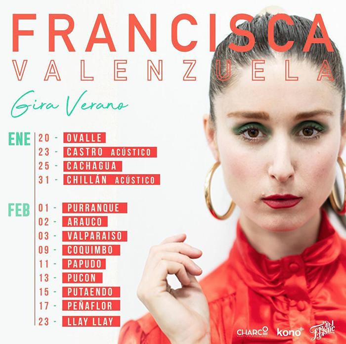 Francisca Valenzuela anuncia su gira de verano por Chile 1