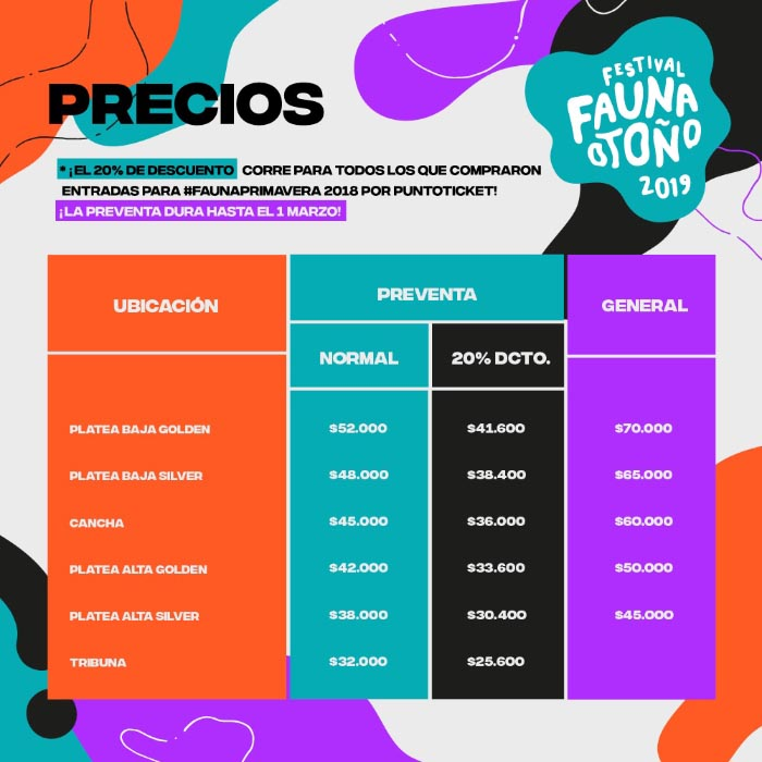 Fauna Otoño anuncia lineup completo para mayo 2