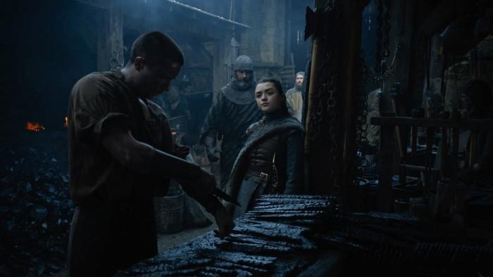 Game of Thrones Arya y Gendry