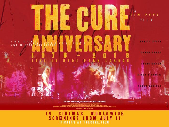 The Cure: Anniversary 1978-2018 Live in Hyde Park London, llegará a Cinemark 1