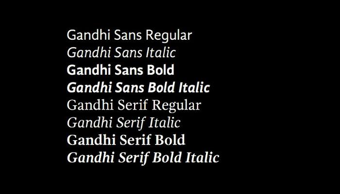 Tipografía Gandhi