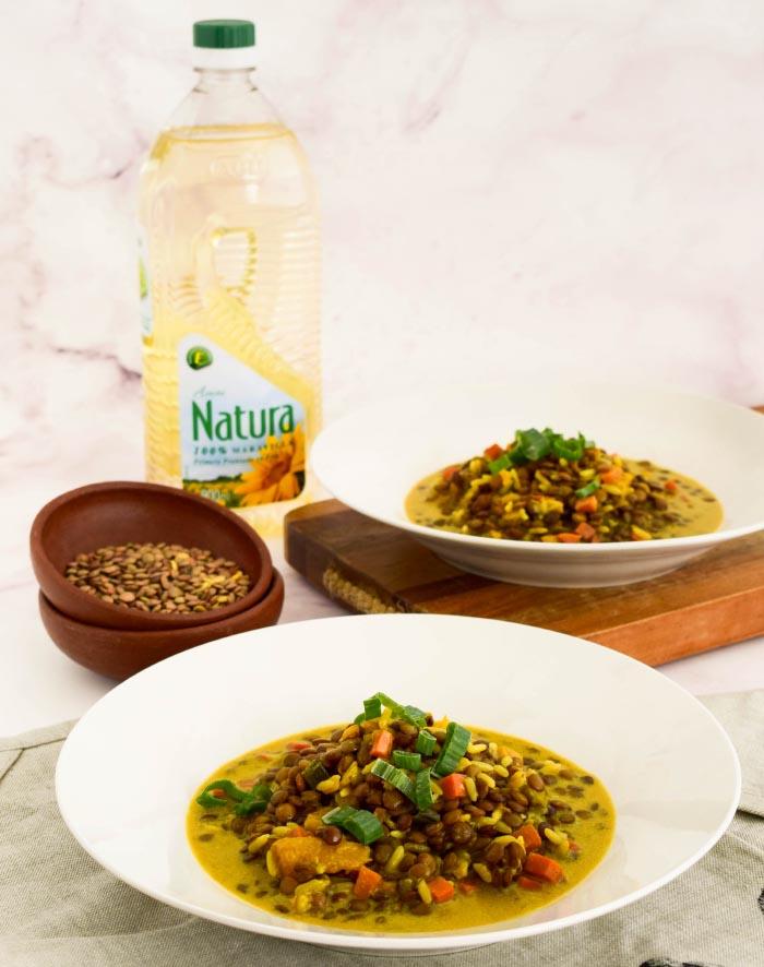 Recetas de Guiso de Lentejas al Curry + concurso Natura 1