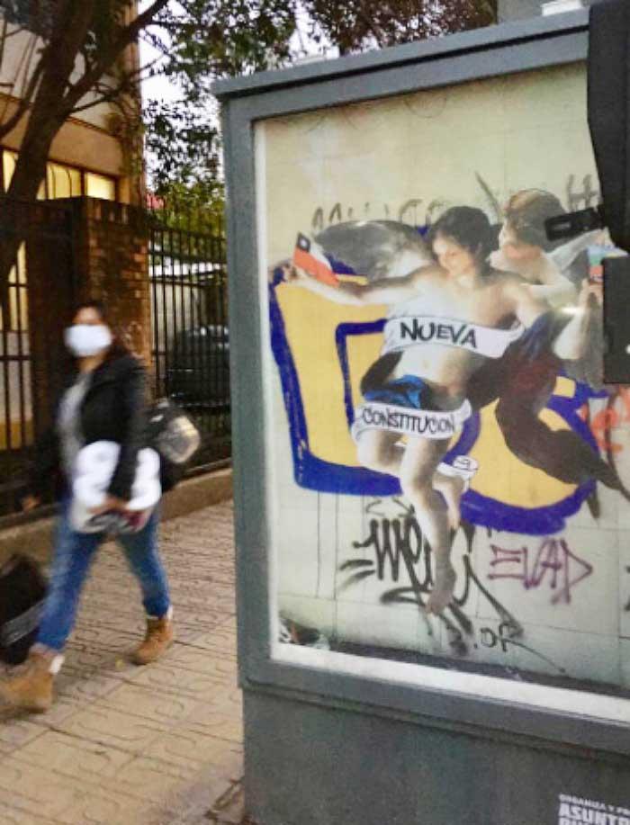 """""""Nueva Constitución"""", la icónica obra de Caiozzama se exhibe en Galería Cívica 2"""