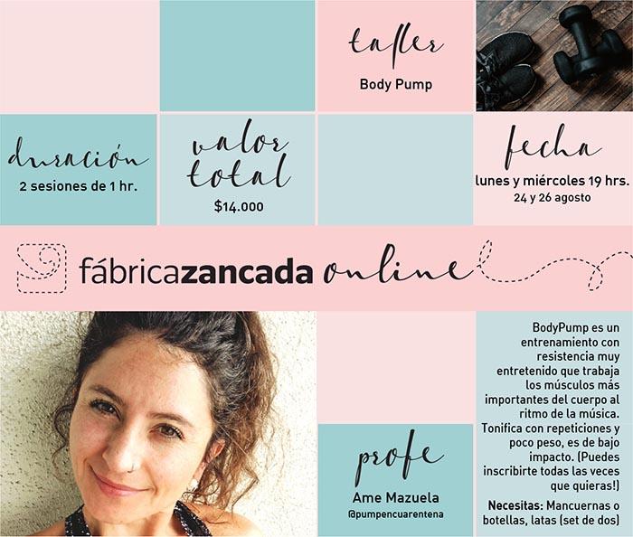 Inscríbete en los talleres de Fábrica Zancada Online 15