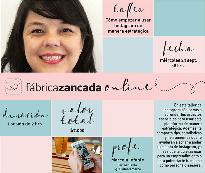 Inscríbete en los talleres de Fábrica Zancada Online 16