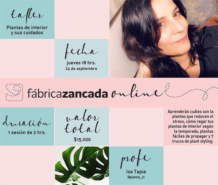 Inscríbete en los talleres de Fábrica Zancada Online 2