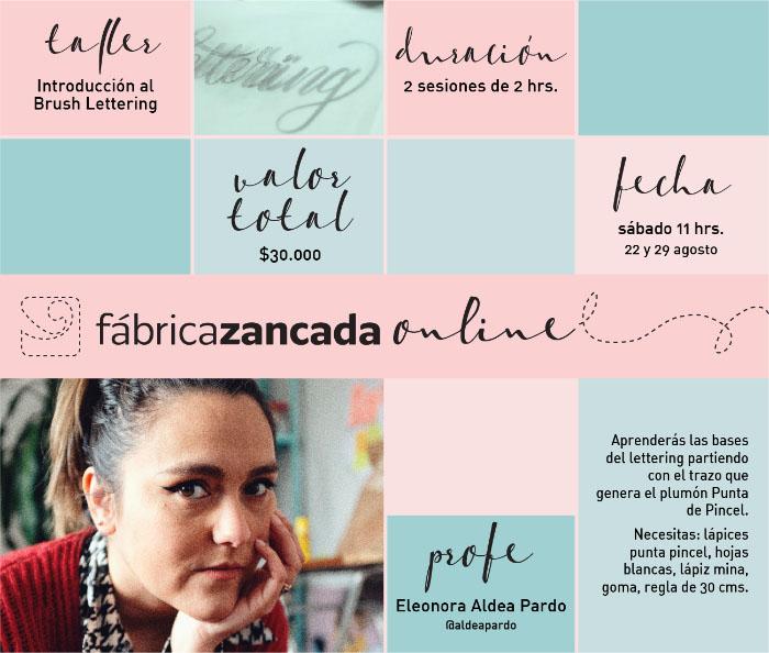 Inscríbete en los talleres de Fábrica Zancada Online 9