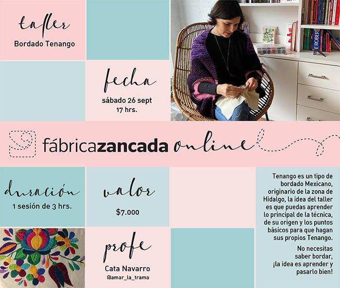 Inscríbete en los talleres de Fábrica Zancada Online 3