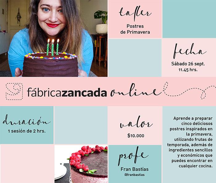 Nuevos talleres de Fábrica Zancada Online en primavera 1