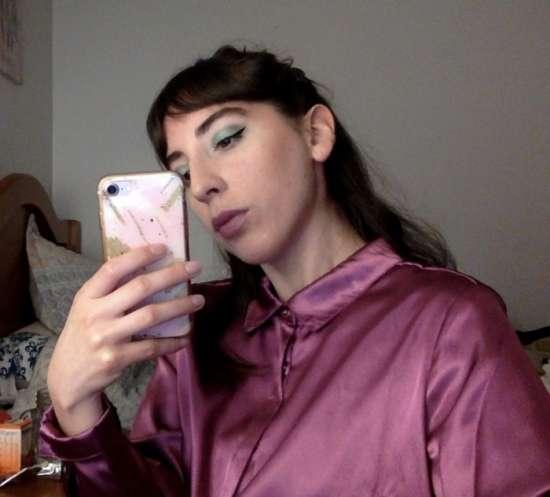 Selfie de la escritora Carla Vargas