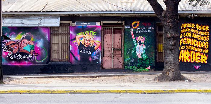 Mural Macul con Grecia Paloma Rodríguez