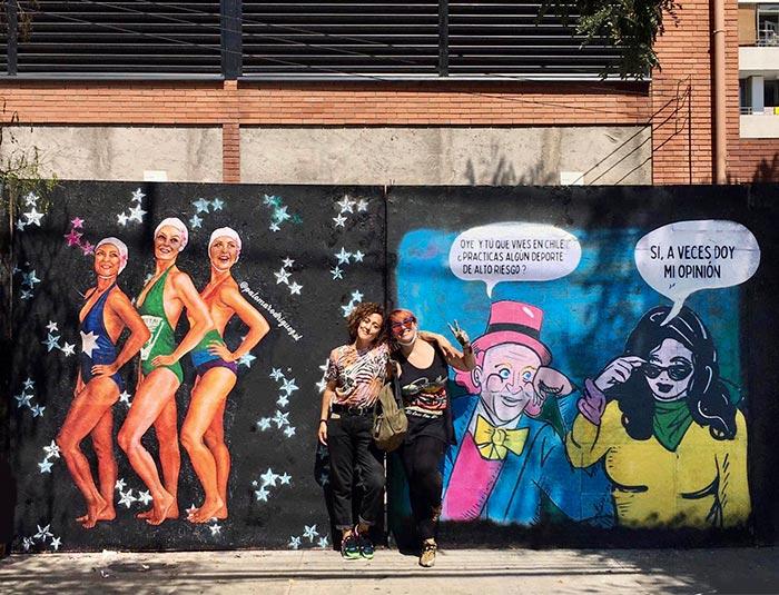 Murales feministas: artistas chilenas