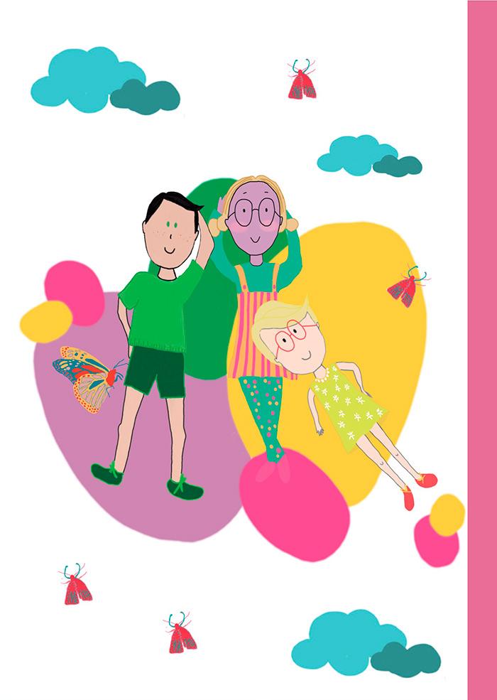Ilustraciones de libro infantil Piel Violeta