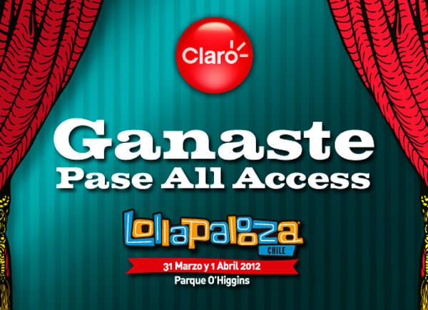Claro regala pases All Access a Lollapalooza 1
